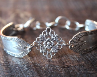 Amazing Antique Spoon Bracelet With Celtic Charm - FREE SHIPPING