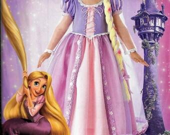 Simplicity 2065 / 0415 Girl's Rapunzel Princess Tangled Dress Costume Sewing Pattern UNCUT Size 3, 4, 5, 6, 7, 8