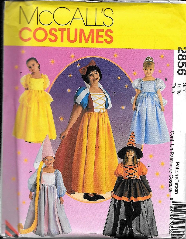 McCall's 2856 GIRLS Storybook Princess, Snow White, Sleeping ...