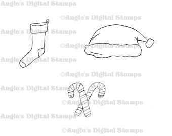 Christmas Stocking Digital Stamp Set