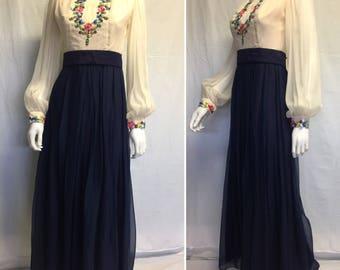 Bohemian Rhapsody Vintage Maxi Culotte Dress