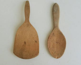 Old Wooden Spoons - Farmhouse Kitchen Decor - Wood Spoons 2