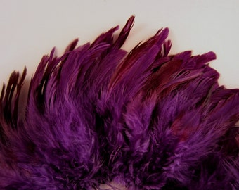 Purple eggshell Schlappen Feathers 4 to 6 inches