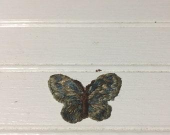 Vintage butterfly patch fashion sixtes blue butterfly boho bohemian hippie