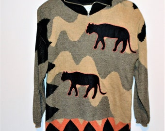 Vintage Sweater Wild Cats Hipster