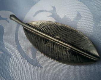 Pewter Leaf Brooch, Pewter Brooch, Leaf Brooch