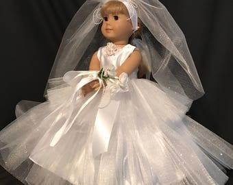 American Girl Doll or 18 Inch Doll Wedding Dress