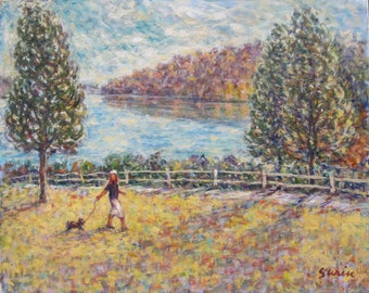 """A Walk in the Park, oil on canvas, 16"""" x 20"""""""