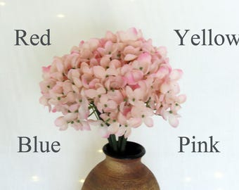 Hydrangeas, Hydrangeas Bouquet, 6 Stems in a Bunch, Bridal Florals,  Blue Flowers, Pink Hydrangeas, Yellow Hydrangeas, Red Hydrangeas