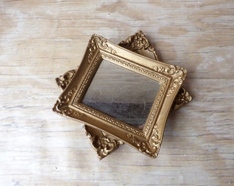 Ornate Vintage Picture Frames with Mirror Hollywood Regency Mirror