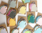 Wholesale 10 sets of Michigan Mitten Tags | Gift Tags | Birthday Gift Tags | Wedding Favor Gift Tags| Vintage Re-purposed Recycled