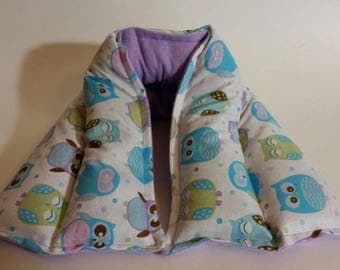 Hot/ Cold Herbal Therapy Neck, Knee and Ankle Wrap Cute Purple and Blue Owls