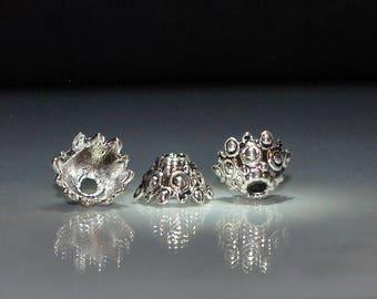 10 pcs 12x6mm Antique Silver Bead Caps Cones