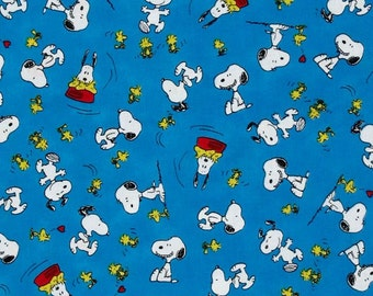 Quilting Treasures, Peanuts, Snoopy, Woodstock, Happiness is Peanuts