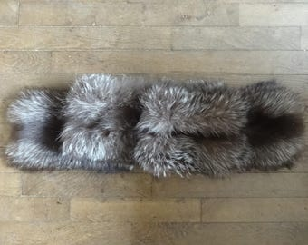 Vintage American fox fur collar stole scarf wrap taxidermy circa 1960-70's / English Shop