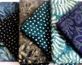 Batik Fabric Bundle  6 Fat Quarters  Green Assortment  Quilting Weight Cotton Fabric Boundless Mixers  Stash Builder Quiltsy Destash Party