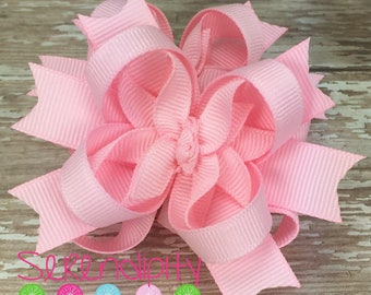 Light Pink Mini Boutique Hair Bows, Pink Hair Bows, Boutique Hair Bows, Mini Hair Bows, Girl's Hair Bows, Piggy Tail Bows, Bows For Girls