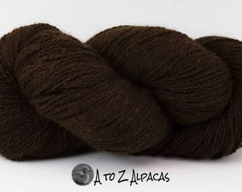 Sport Weight - Brown - Alpaca Yarn - Made in Canada