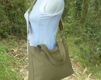 Olive messenger bag, shoulder bag, school bag, laptop bag