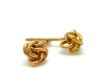 Small Knot Gold Earring Studs - small, delicate, everyday earrings