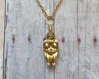 Fertility goddess necklace