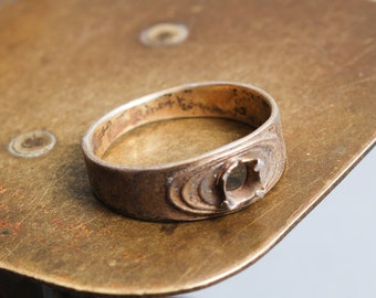 Vintage metal ring setting, 875 size 7
