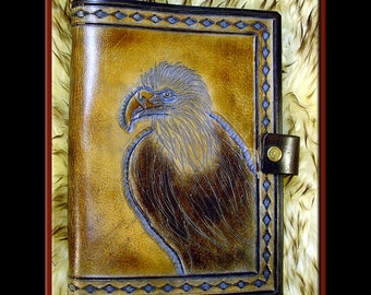EAGLE Journal • A Beautifully Hand Crafted Medium Sized Leather Journal
