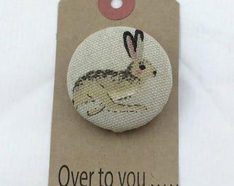 Hare brooch, Bunny brooch,rabbit brooch,gift for her,animal brooch,jewellery