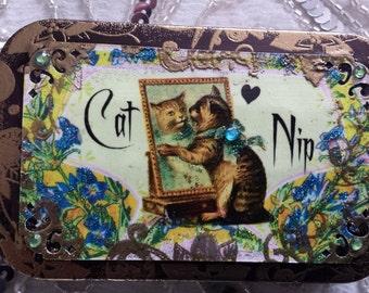 Cat Nip Decorative Cat Tin Box