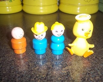 Collection of 3 Vintage Fisher Price people