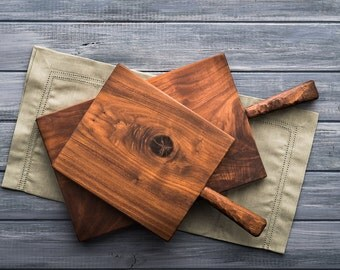 Walnut Serving Board, Cheese Board, Charcuterie Board, Breadboard, Cutting Board, Kitchen and Gourmet