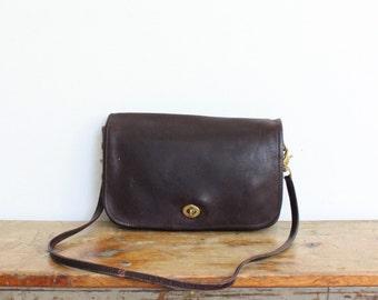 Vintage Coach Bag // Coach Convertible Clutch Purse Handbag Burgundy // Coach Shoulder Bag