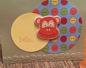 Monkey designed card