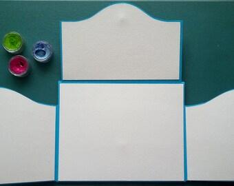 Art Journal, Gift for Artist, Gift for Friend, Interactive Art Journal Starter Kit,  blank journal, watercolor journal, Mixed Media Journal
