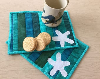 Mug rugs for those that love the water, or not