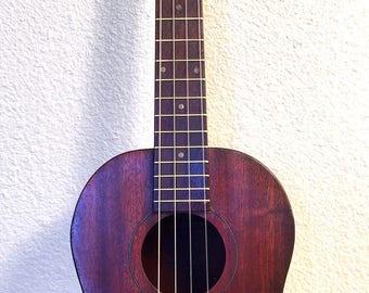 Vintage 1950s Circuitbent Electric Harmony Hawaiian Uke  Ukulele Tenor Guitar Mahogony Body