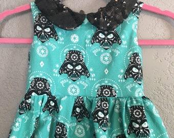 Rockabilly Darth Vader Dress - Mini Pinup Girl Dress  ... Dapper Days, Disneybound, Rockabilly Kid, Pinup Dress, VLV
