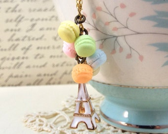 Paris Eiffel Pastel Macaron Necklace - Split Personality Designs