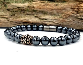 Magnetic Bracelet Therapy Pure Copper & Black Hematite Practical Super High Power Wellness Health FREE gift card