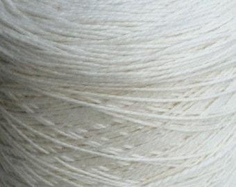 Worsted Weight Merino Silk Luxury Yarn 2 pound Cone Ecru
