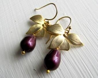 Pearl Earrings Pearl Drop Earrings Silver Pearl Earrings Pearl Silver Earrings Bridal Jewelry Bridesmaids Wedding Jewelry Gold Earrings