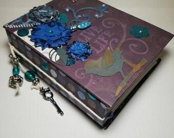 Beautiful Cottage Chic Handmade Mini Album 30 tags, photos and journalling, embellishment, treasured memories, keepsake album, Paper2Roses