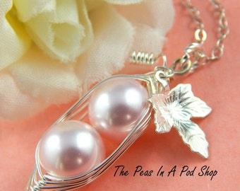 Christmas Sale Peas In A Pod, Two peas in a pod necklace,  Precious Girls, For Brides, Friends, Sisters And Mothers