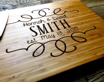 Engraved Cutting Board, Personalized Gift, Personalized Cutting Board, Personalized Wedding Gift, Wedding Gift, Christmas Gift