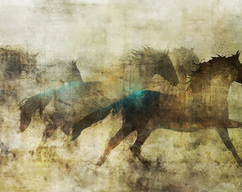 Horse March 01: Giclee Fine Art Print 13X19