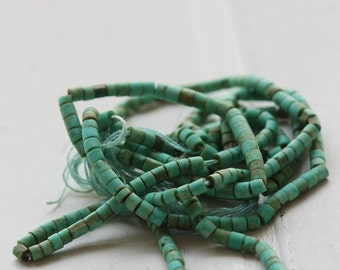 One Full Strand / Green Turquoise / Semiprecious Stone / Gemstone