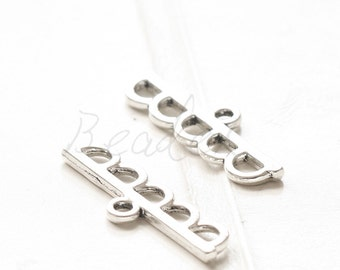 10 Pieces / Bar / Oxidized Silver / Base Metal / Multiple Strands Component / 1 to 5 (Y36584-D603)