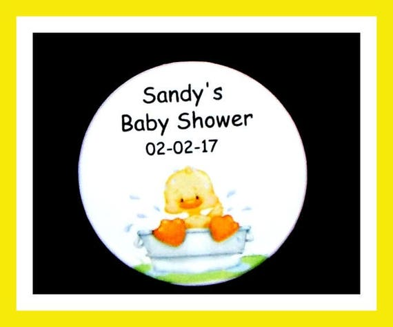 Baby Shower Duck Pin Favor,Personalized Button,Favor Tag,Its a girl,Its a Boy,Party Favor,Birthday Party Favor,Personalized Favors,Set of 10