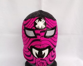 Spider Tender Horror Wrestling Mask Mardi Gras day of the dead halloween party Horror masquerade Classic Lucha Libre Spiderwomen mask