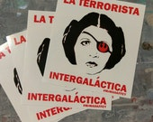 "3 Star Wars Art Disney Princess Leia Graffiti Stickers 3""x3"" Vinyl Stickers Graffiti Art Stickers Obey & Banksy Insp. Bumper Stickers Laptop"